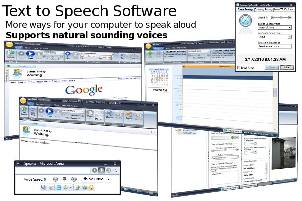More ways for your computer to speak aloud using text to speech software